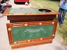 Wildon Home Gaming Casino Roulette Table Bar Mancave Poker Blackjack RM