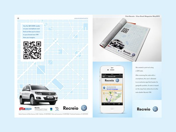 Simply scan the QR code on the VW ad, download the app, and find out