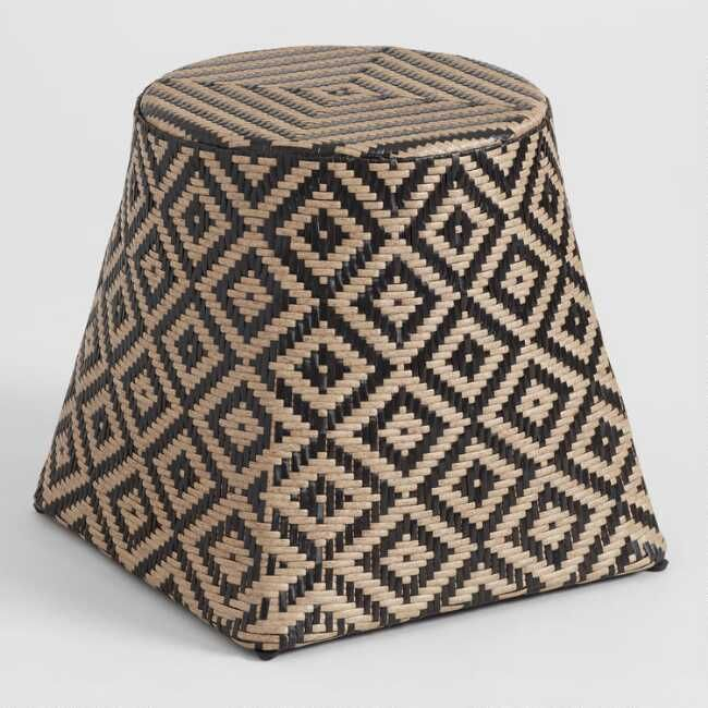 Two Tone All Weather Wicker Harare Outdoor Patio Stool By