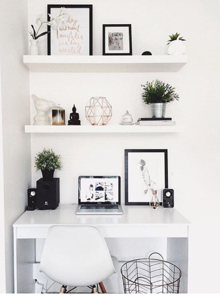 Styling On A Budget | Blog Read By Hannah Goodfellow White Desk Bedroom,  Desk In
