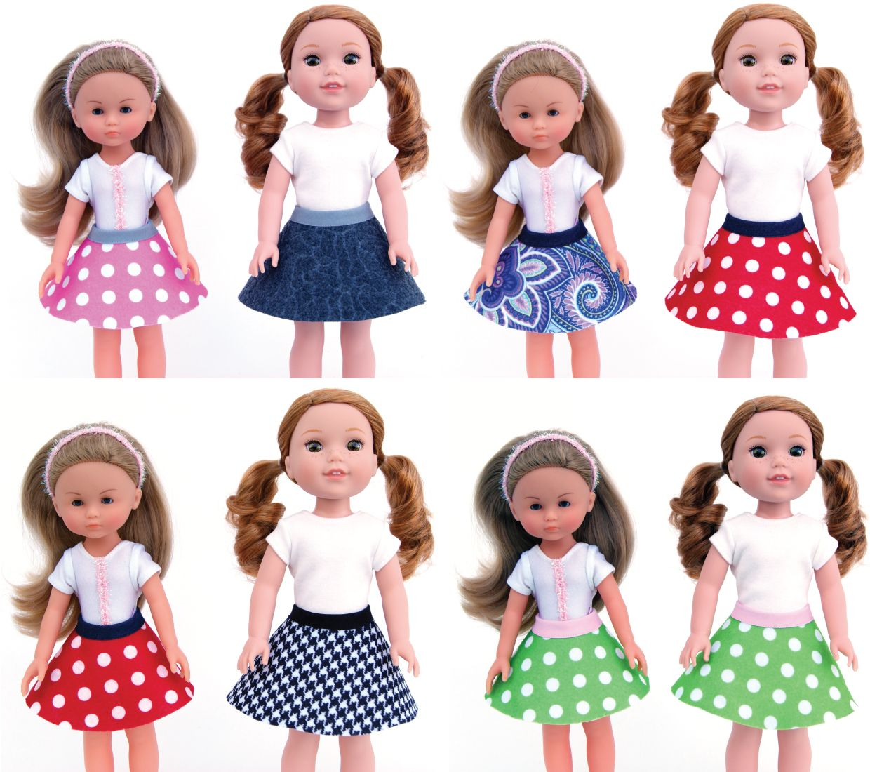 Free Pattern For 13 And 14 5 Inch Doll Skirts Dolls Clothes Diy American Girl Doll Patterns Baby Doll Clothes
