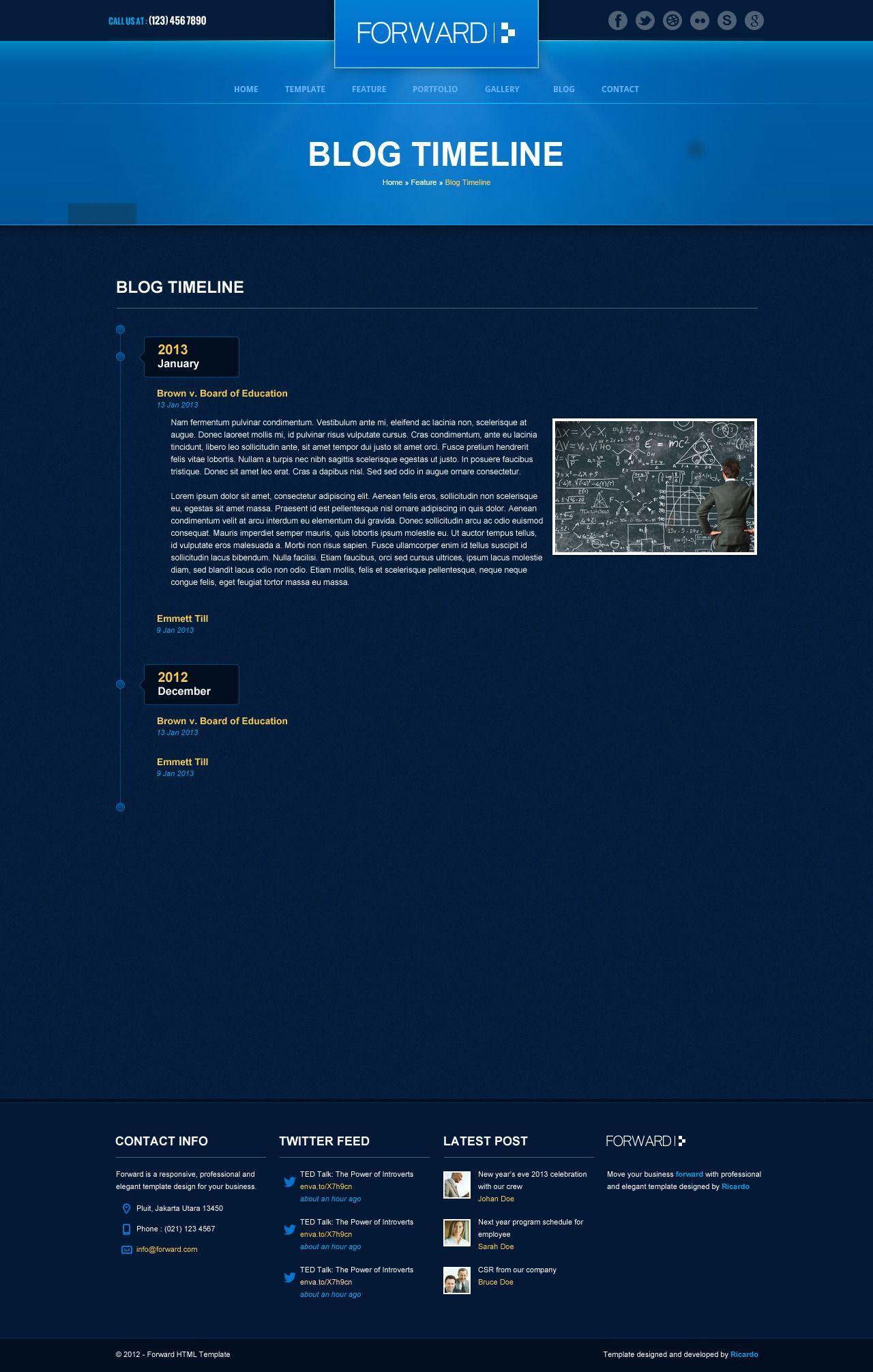 Forward Professional Responsive HTML Template