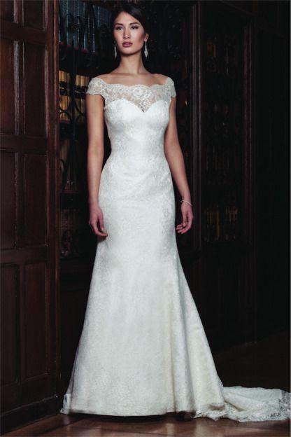 Wedding Dress: Augusta Jones - www.stylemepretty.com/lookbook/designer/augusta-jones  View entire slideshow: Off the Shoulder Dresses on http://www.stylemepretty.com/collection/723/