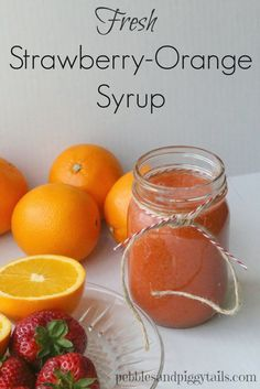 How to make this delightful homemade Strawberry-Orange Syrup for your next brunch! This sunny syrup goes perfect with waffles and fresh pancakes.