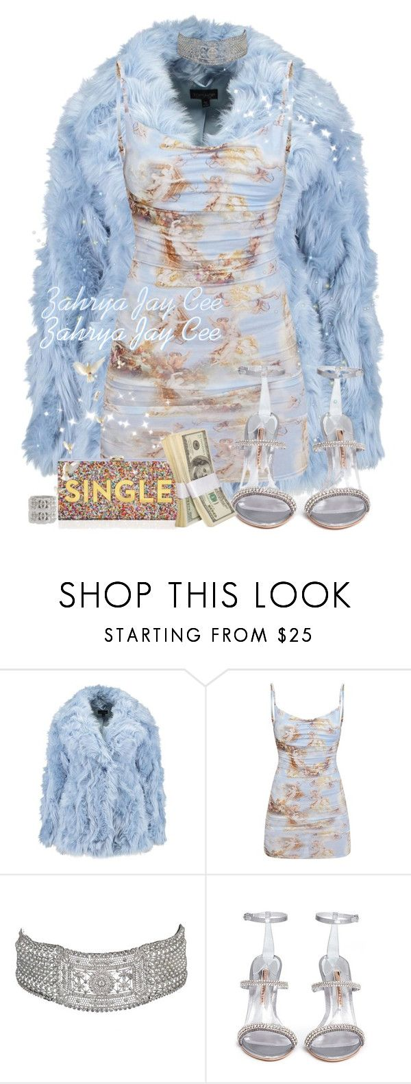 """""""I'm single, but these hundreds ain't."""" by sphereoflightmovement ❤ liked on Polyvore featuring Sophia Webster, Milly and Chanel"""