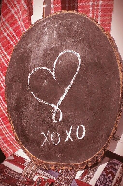 Chalk wood sign