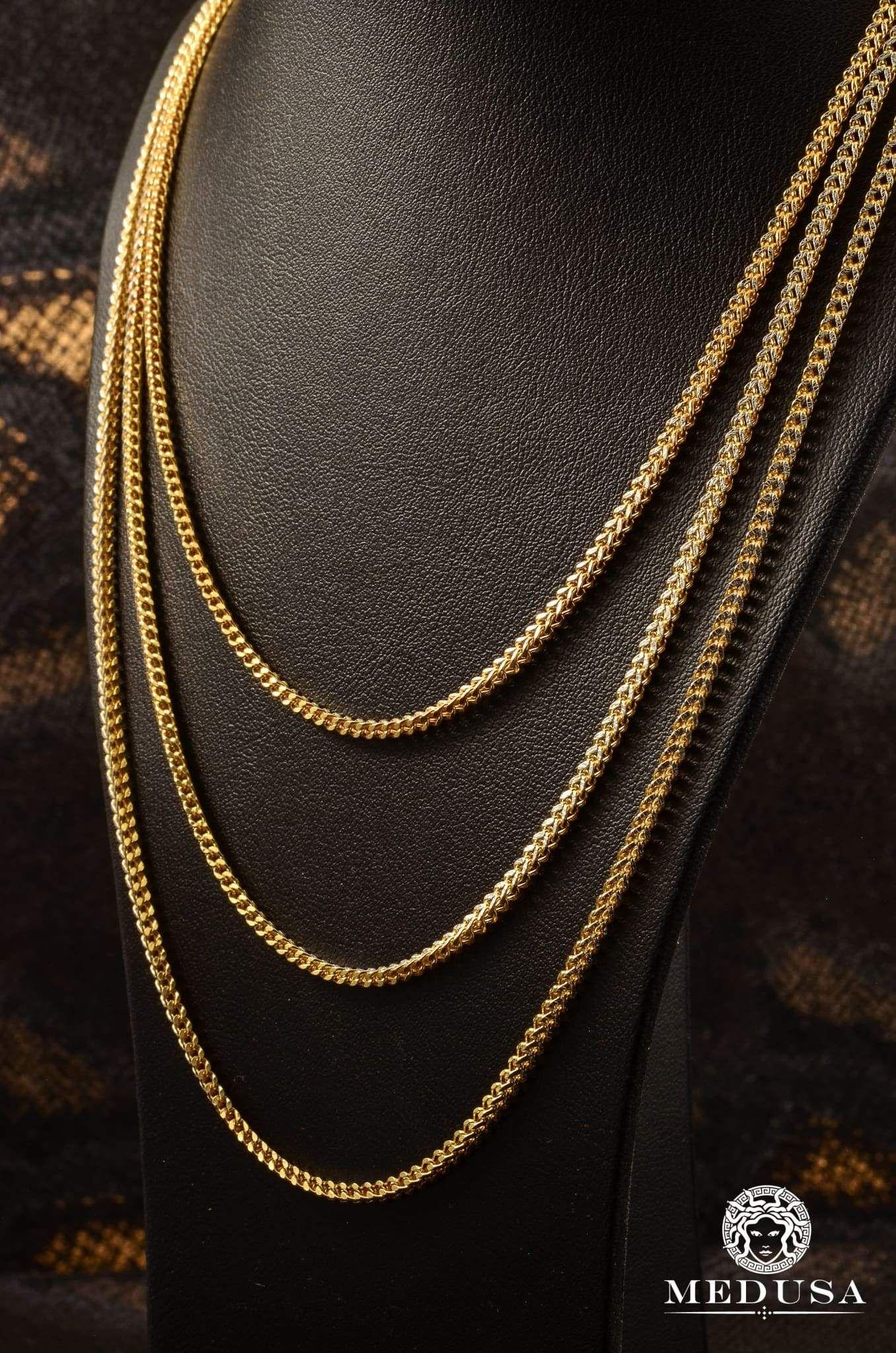 60073a878 Jewelry Gold chain chain Franco Unisex-2mm-Franco Diamond Cut Chain Jewelry  Medusa-