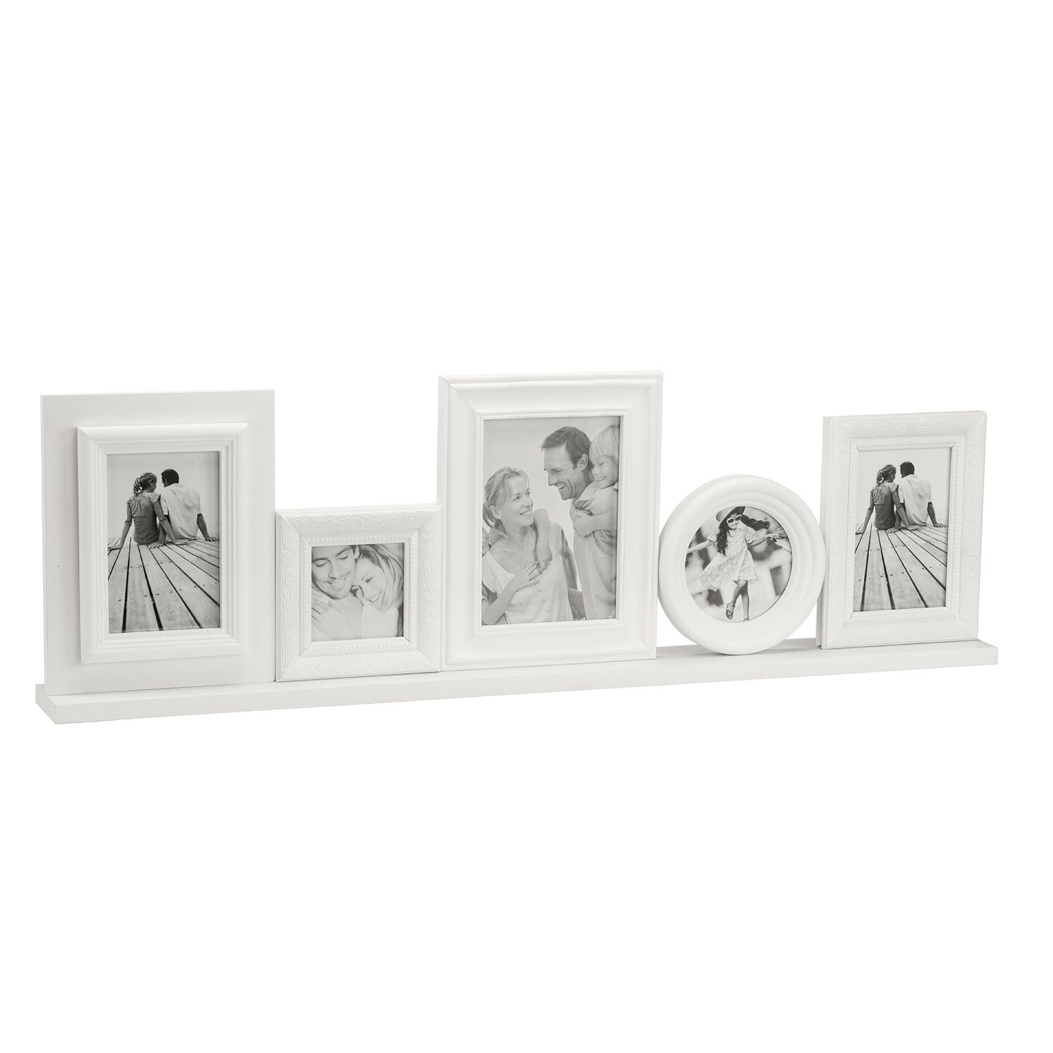 Buy White Free Standing Multi Picture Frame | Home Furnishings | The ...