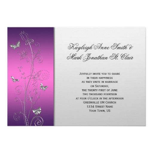 SAVE THE DATE MAGNETS Personalised Wedding Flowers and Butterflies Design