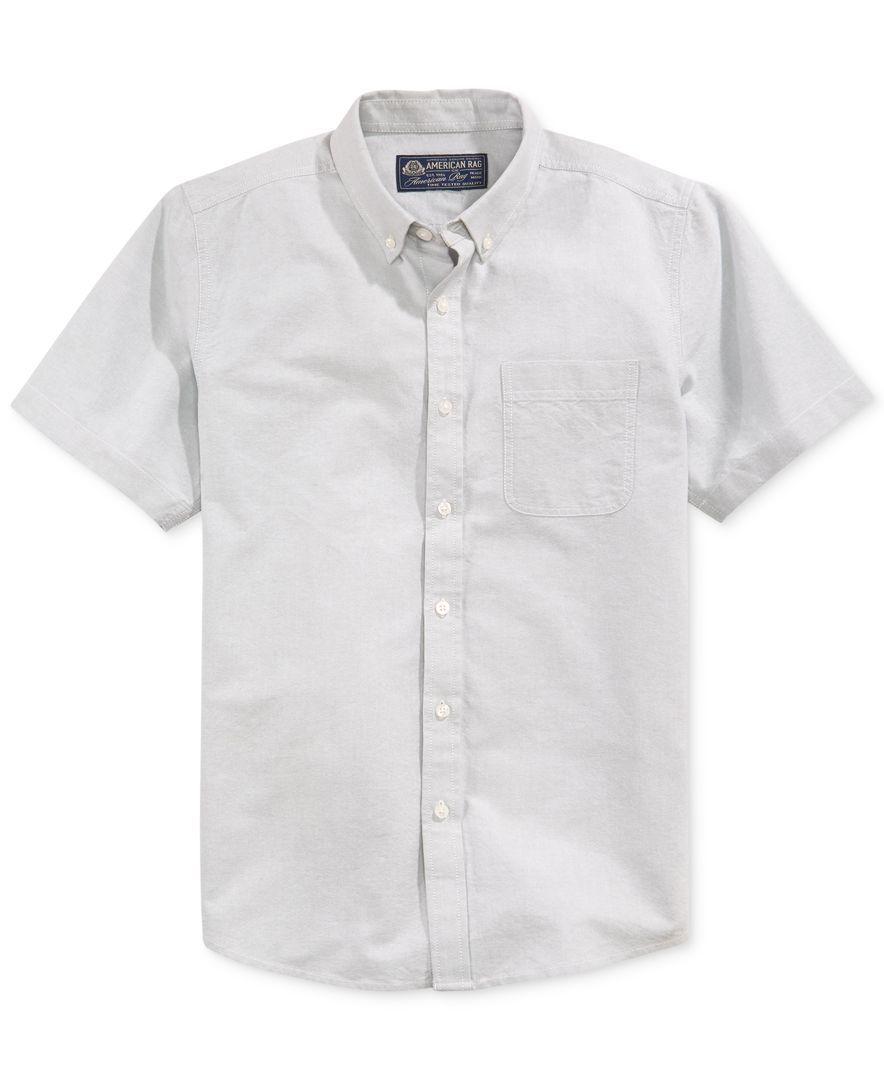 American Rag Short-Sleeve Oxford Shirt