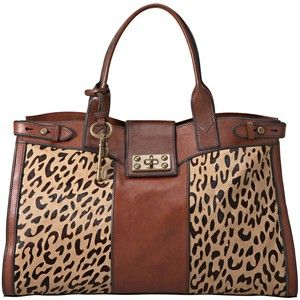 7cf4a722f Fossil Handbag, Vintage Reissue Weekender Bag - Leather and Leopard♡ Alison  , I need this bag ! Hint Hint Hint :)