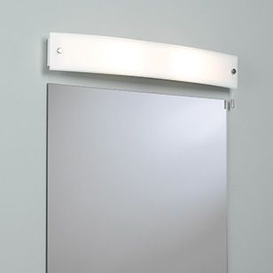 Astro lighting curve simple white bathroom mirror wall light with a astro lighting curve simple white bathroom mirror wall light with a pull cord switch curve rectangular wall light with a white opaque glass shade designed aloadofball Image collections