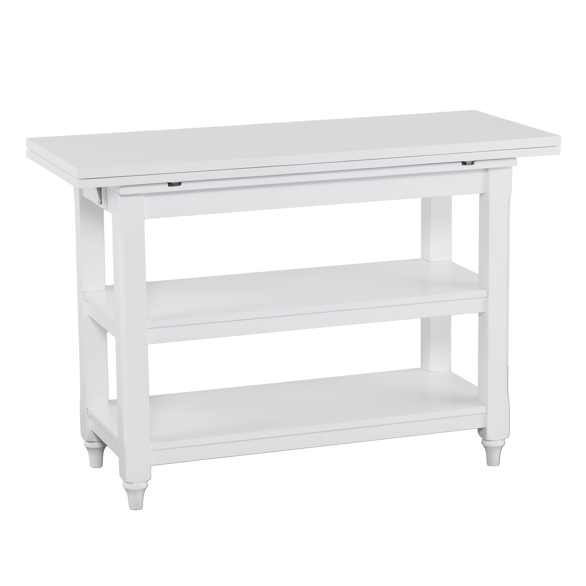 Console Convertible Table Alby Convertible Console To Dining Table White Aiden Lane