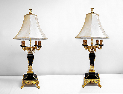 Sevres-Style Table Lamps by A.C.F.