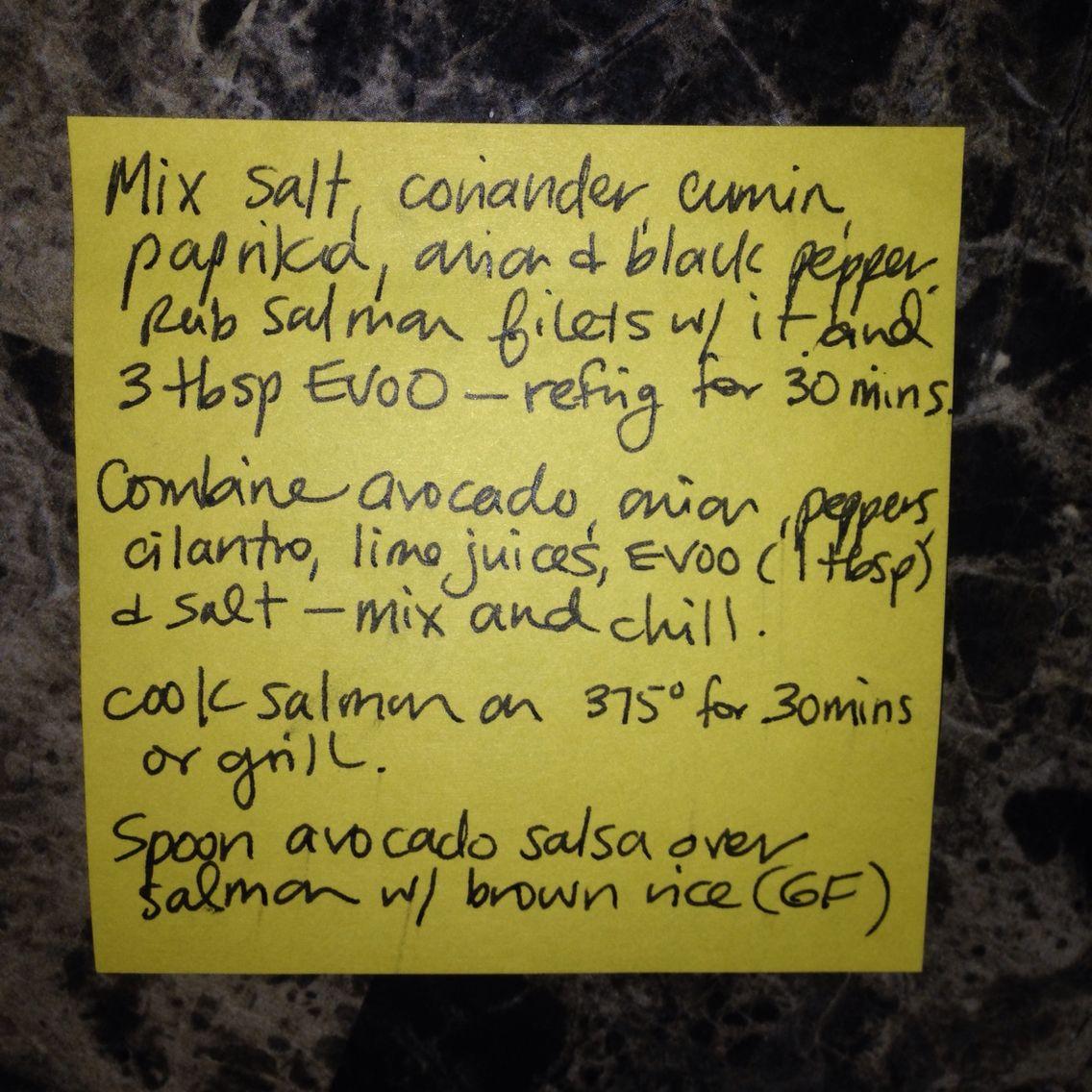Salmon & Avocado Salsa Recipe - Part 2
