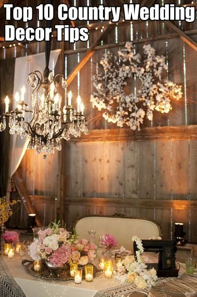 10 barn wedding decor ideas country weddings weddings and wedding top 10 wedding decor ideas im not having a country wedding but theres gotta be junglespirit Images