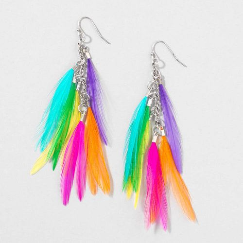 d754bdb07 Pump Up Rainbow Feather Earrings | Claire's | My Style in 2019 ...