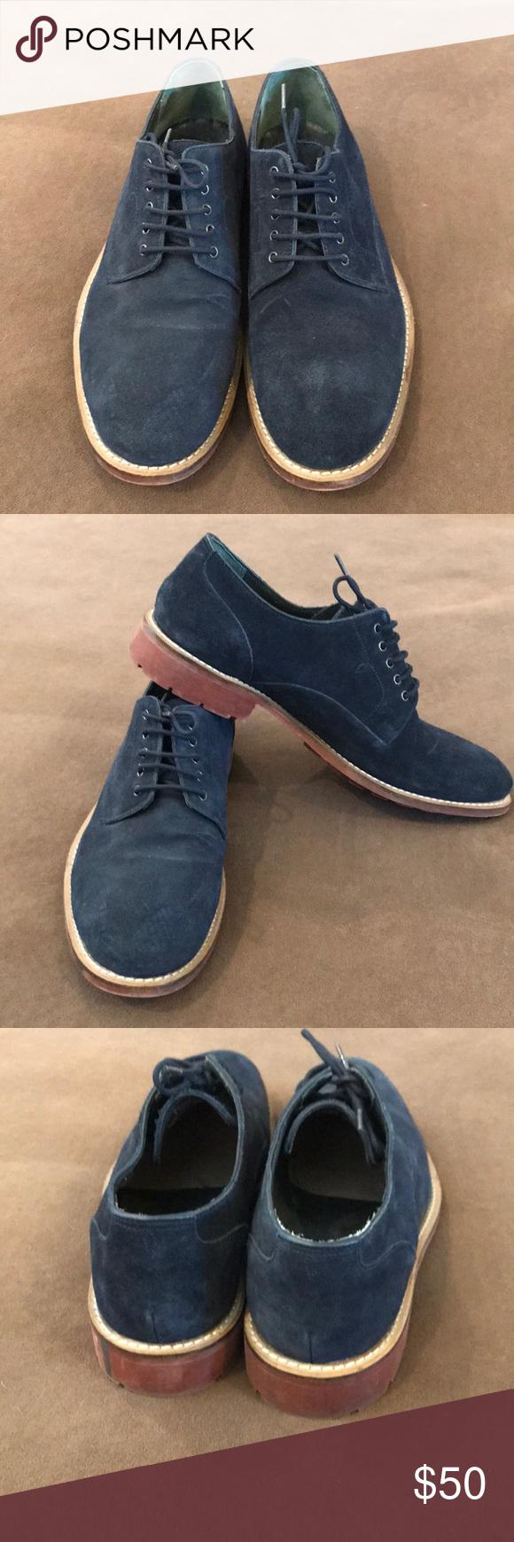 Ted Baker Tich D2 Blue suede shoes
