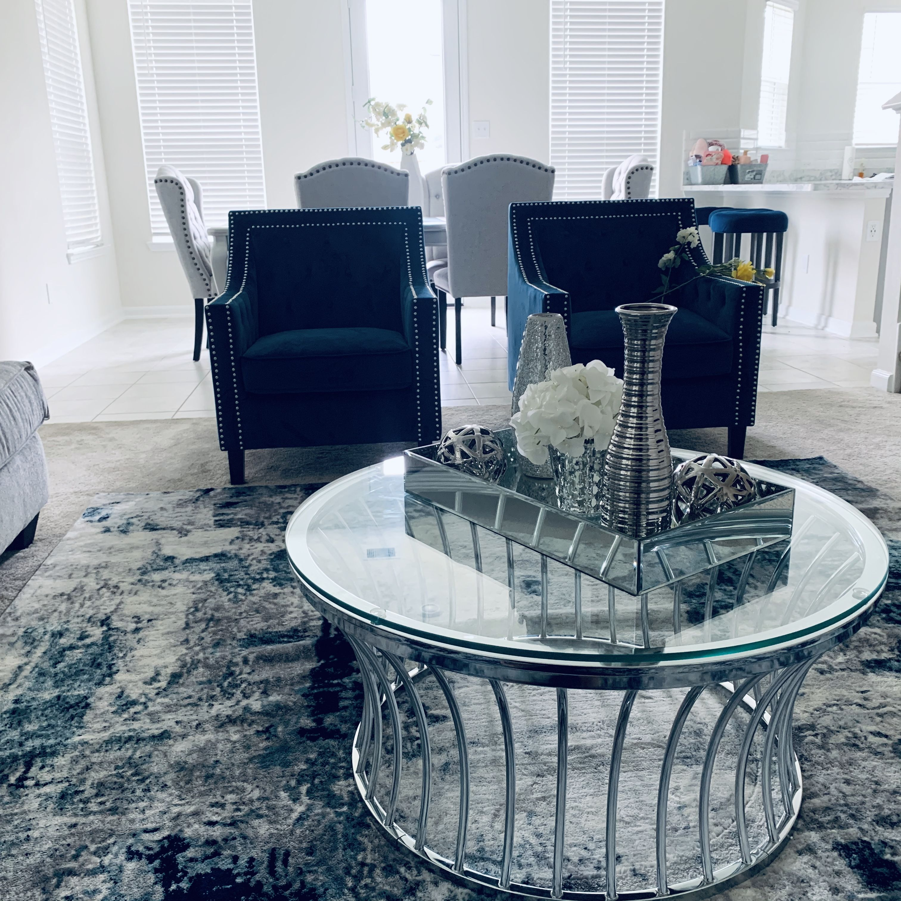 Living Room Decor Blue Home