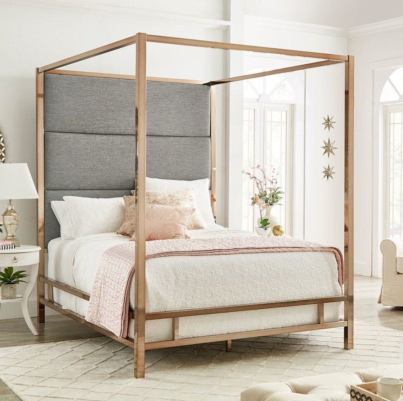 Moyers Upholstered Canopy Bed Canopy Bedroom Canopy Bed Gold Bed