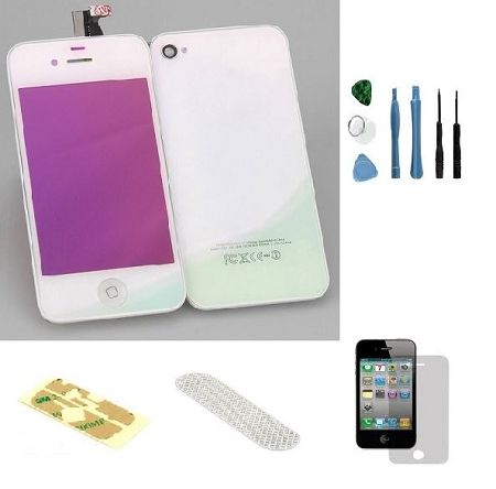 Iphone 4S Complete Color Change Kit (Mirror White) #http://www.pinterest.com/ordercases/