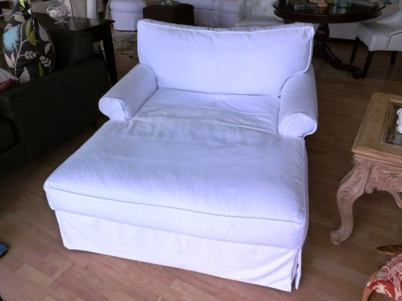 Beau Sofa U Love | Custom Made In USA Furniture | Sofa U Love Shabby Chic Slipcover  Oversize Chair Half Chaise White Denim