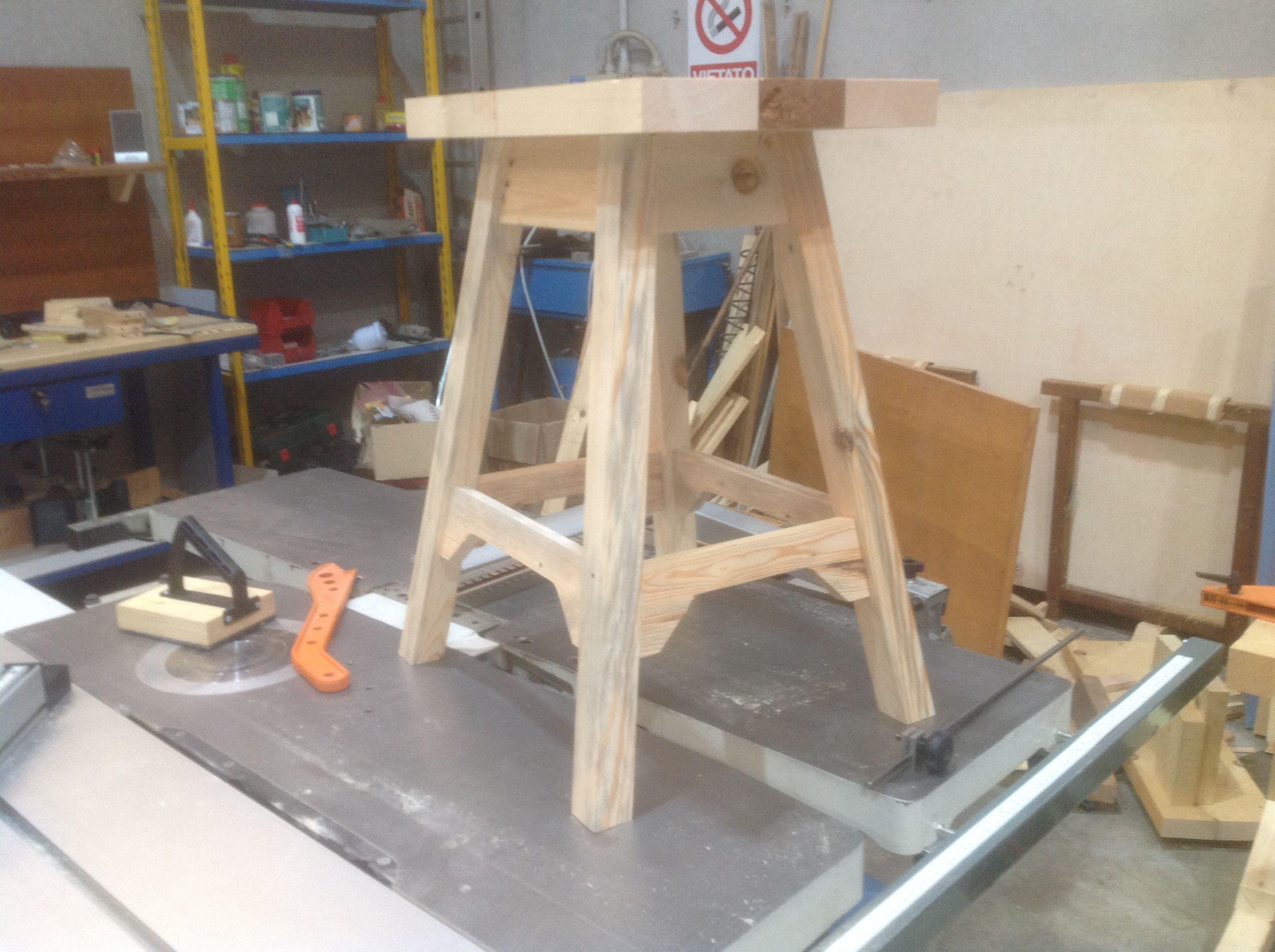 Pre assemblaggio sgabello per bancone cucina. | Lavori in legno 1 ...
