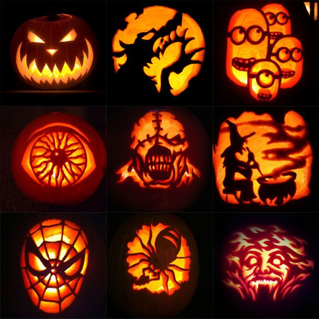 Scary Pumpkin Carving Patterns: Pin By Pure Life Cookware On Family And Holidays