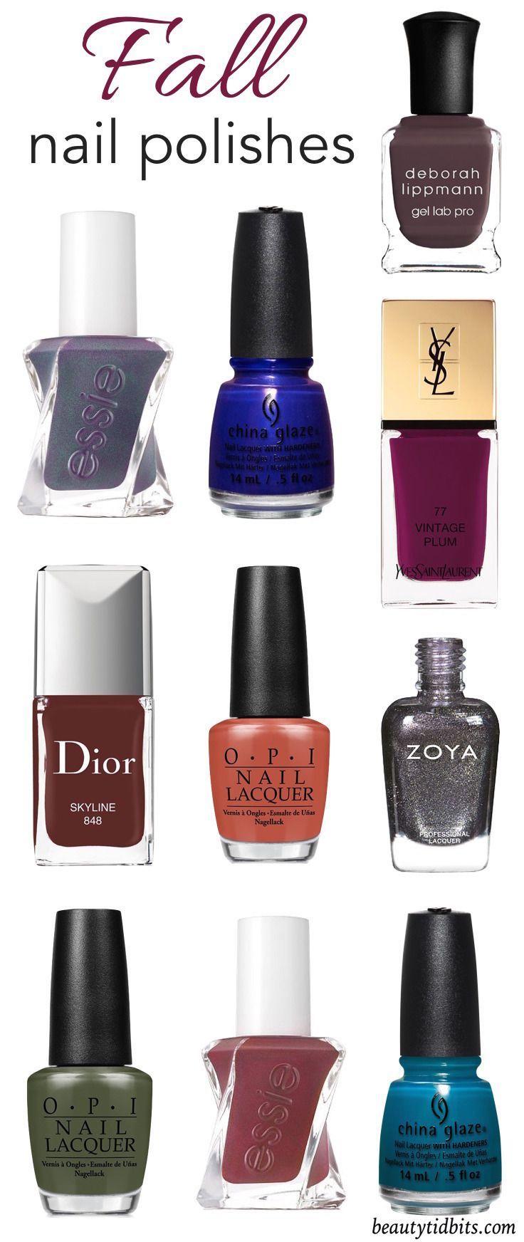 10 Must-Have Nail Colors You Need This Fall | Fall nail polish, Nail ...