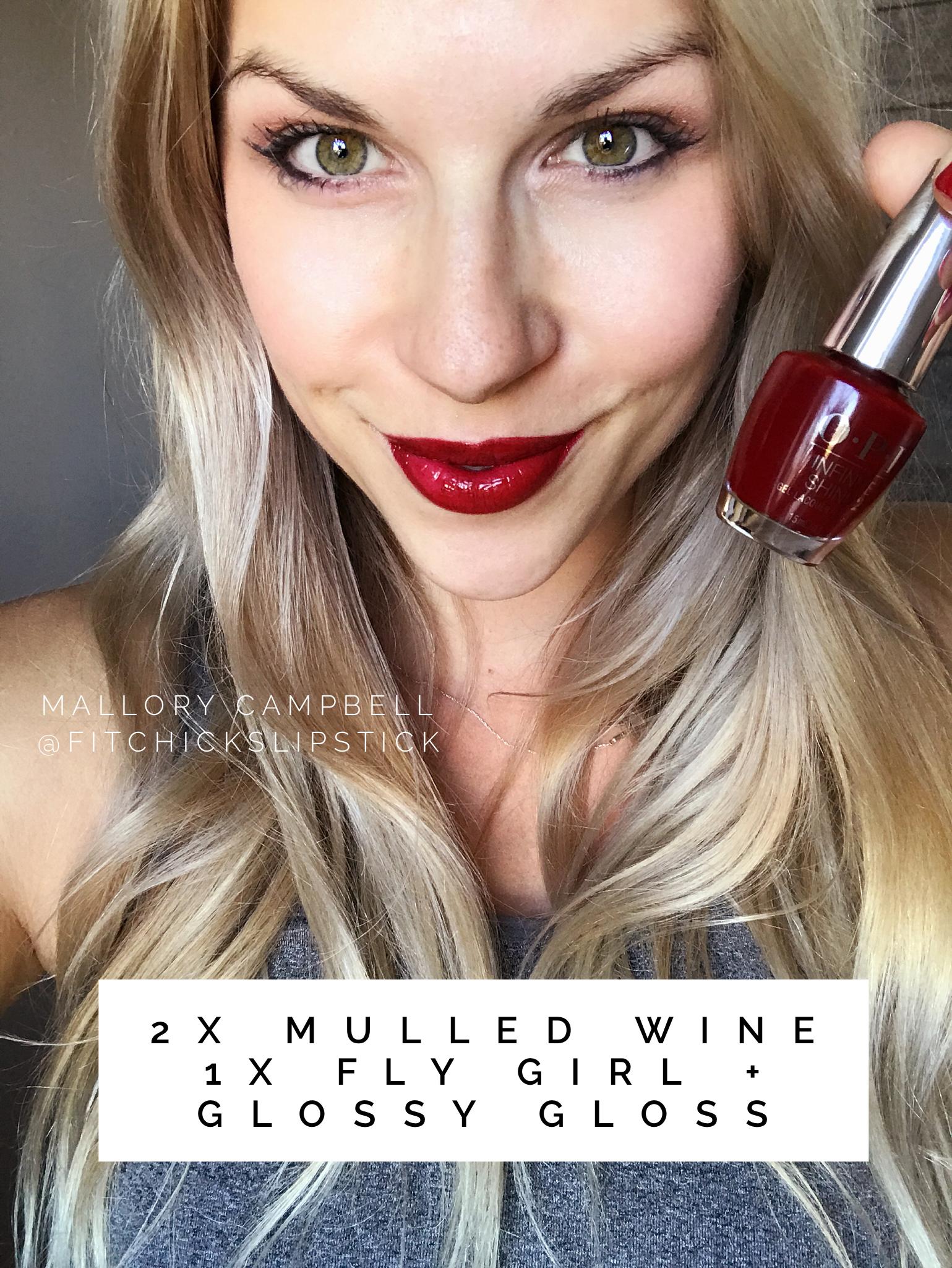 Lipsense Makeup: Mulled Wine + Fly Girl LipSense Layered