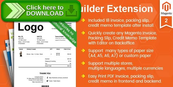 Free nulled Magento Pdf Invoice, Packing Slip, Credit Memo - memo template free download