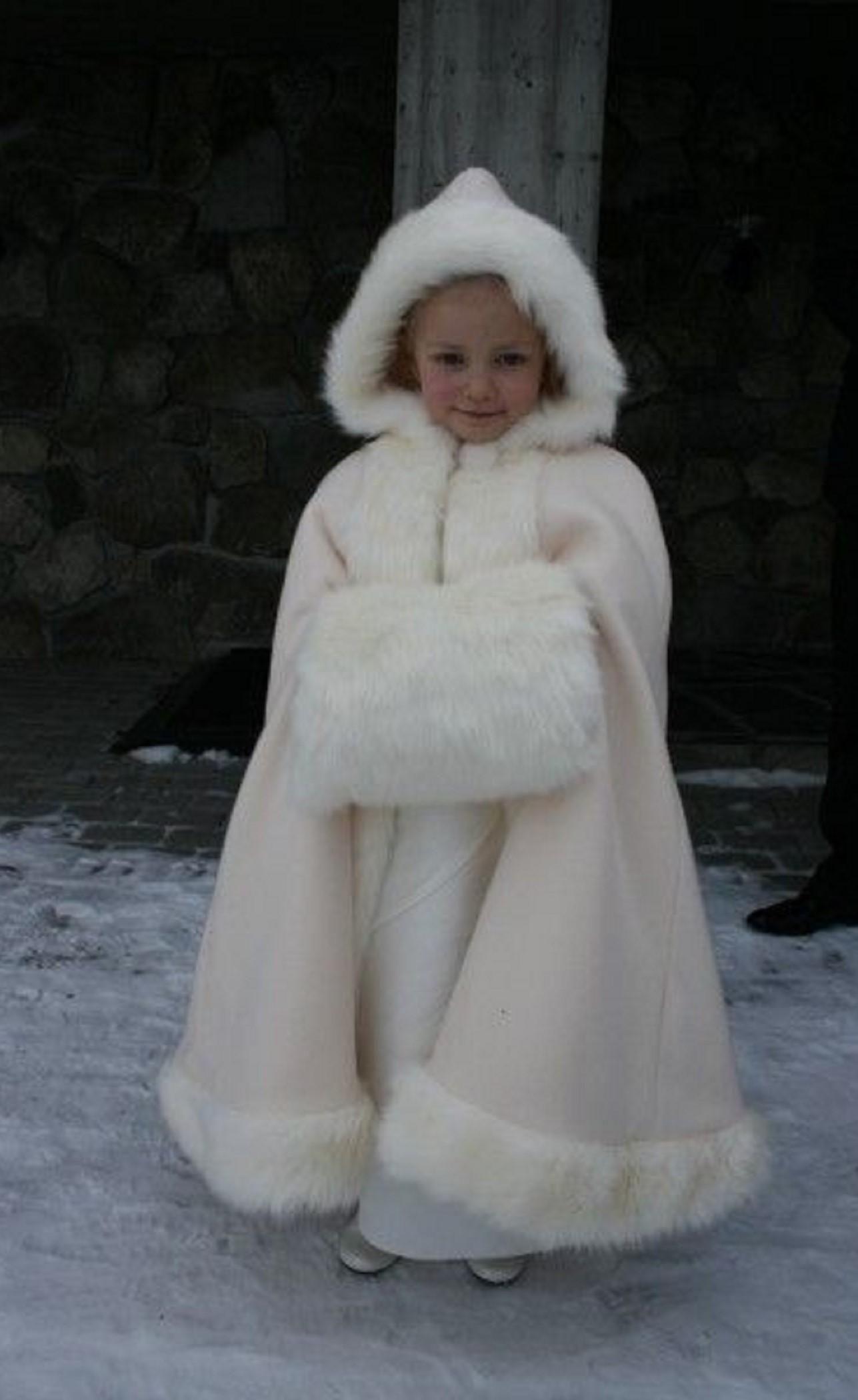 Red Children Child Kids Flower Girls Faux Fur Wedding Wrap Jacket Coat 3-5 Years