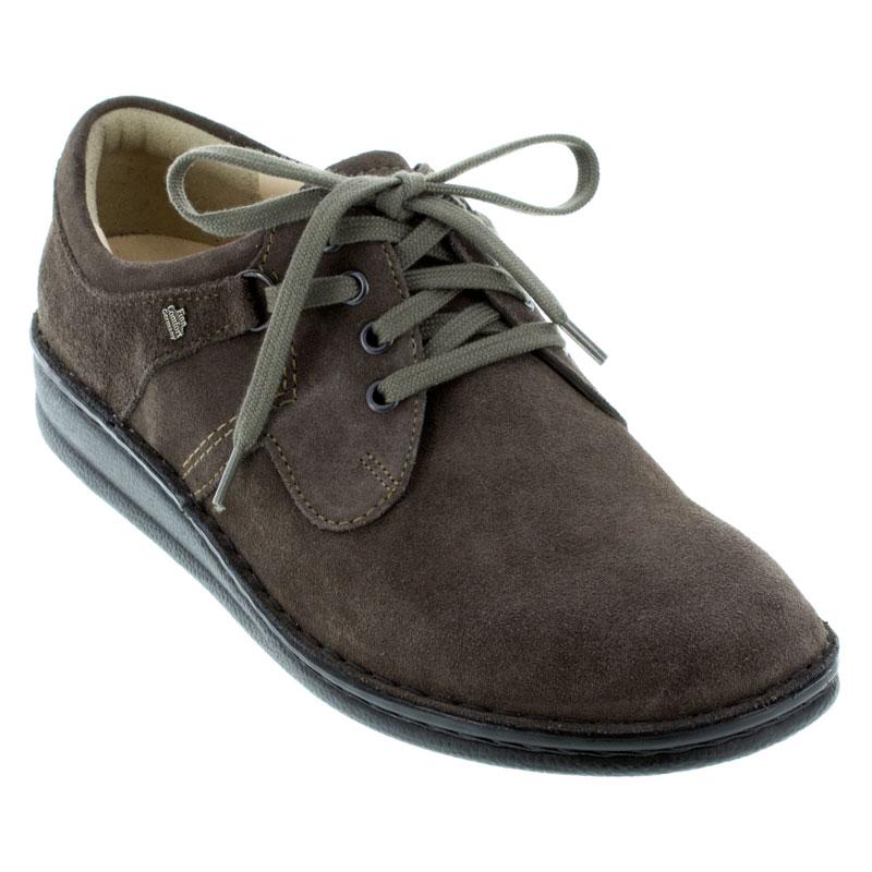 Finn Comfort Vaasa Asphalt Suede Suede Leather Shoes Mens Suede