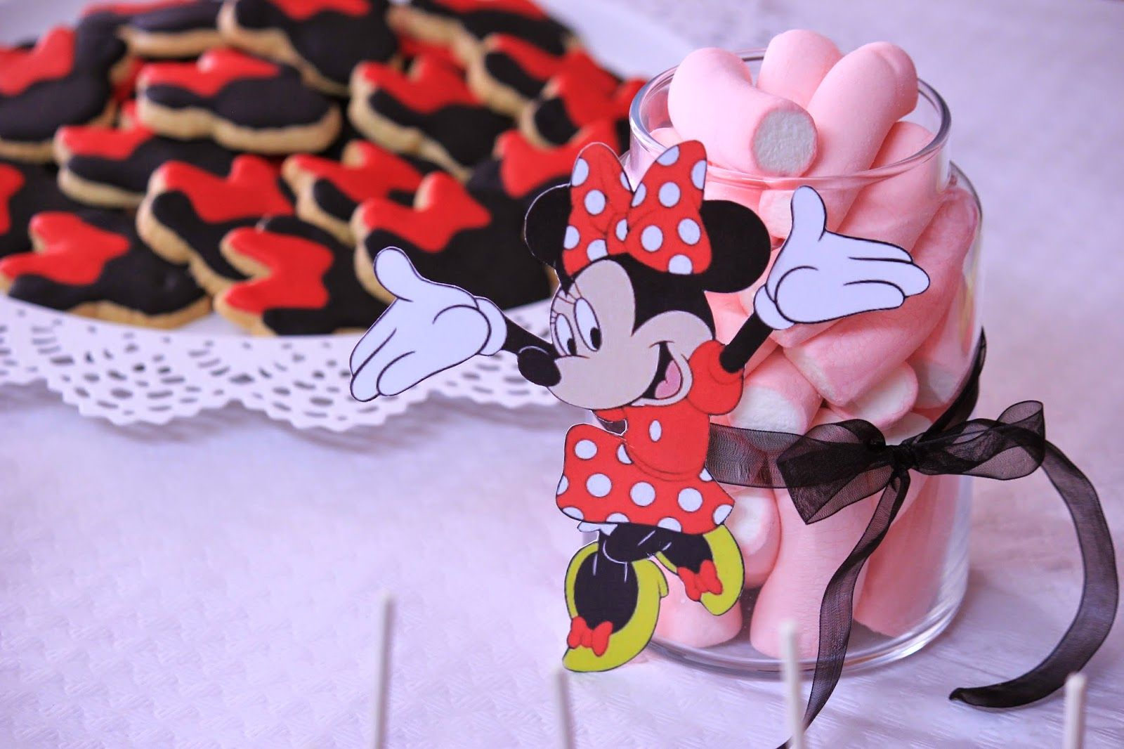 Tavolo Minnie ~ Amart palma mesa dulce de minnie mouse para el bautizo de nuria