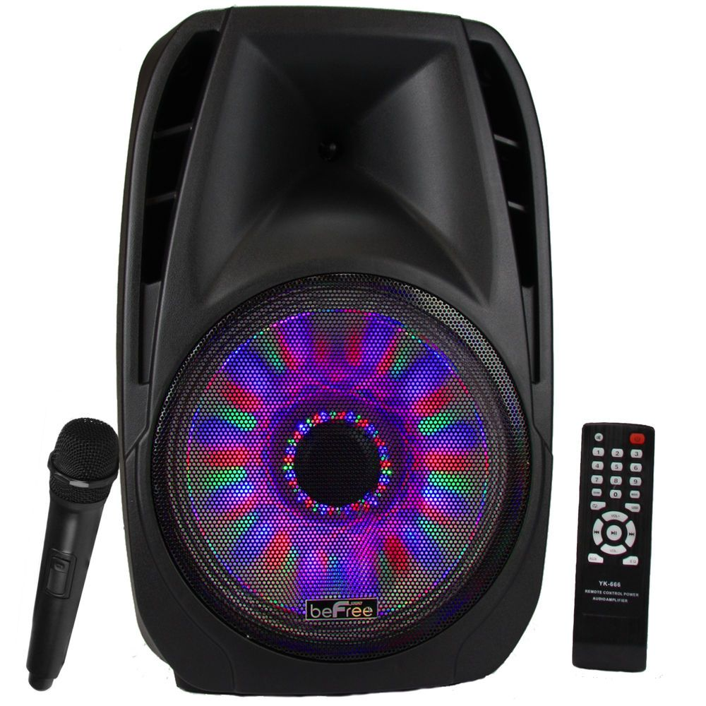 portable bluetooth speakers with lights. befree sound 15 inch bluetooth tailgate speaker with sound/volume reactive lights - myaccessoryguy portable speakers
