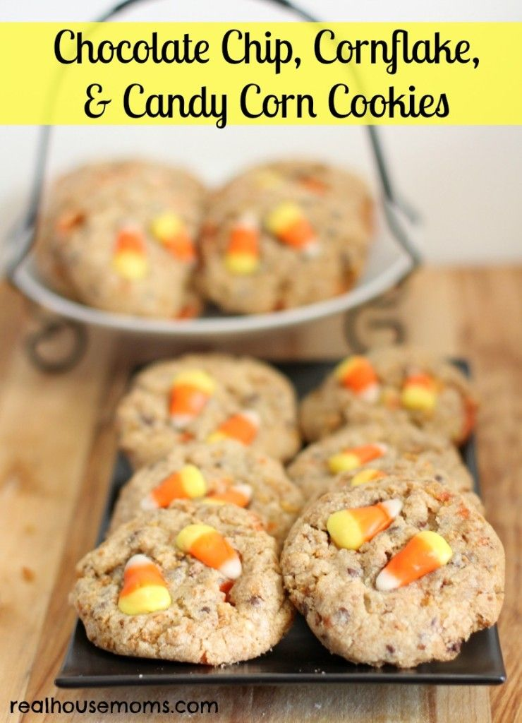 Chocolate Chip, Cornflakes, & Candy Corn Cookies