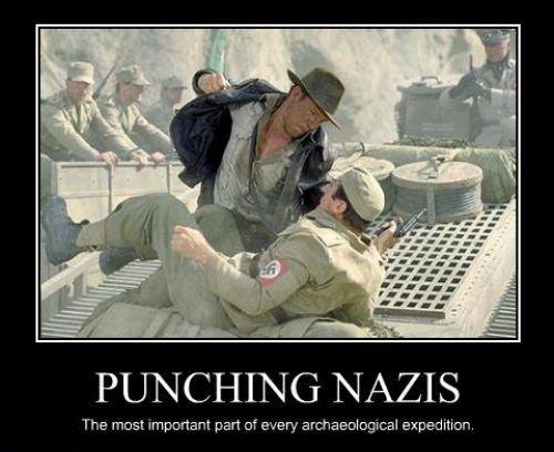 Image result for indiana jones punching nazi