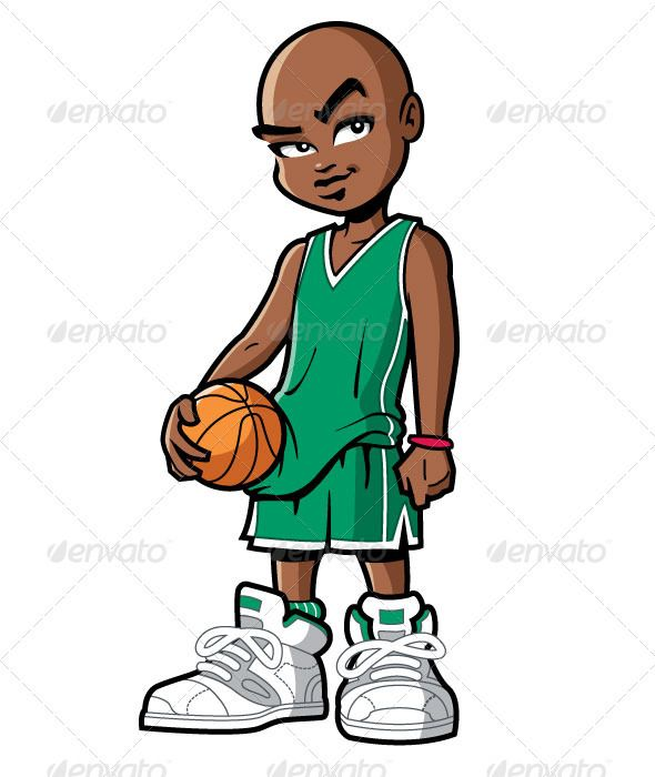 Basketball Player With Attitude Cartoon People Basketball Players Black Cartoon
