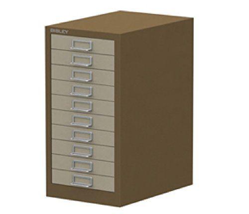 bisley multidrawer 10 drawer filing cabinet brown cream 590h x rh pinterest co uk