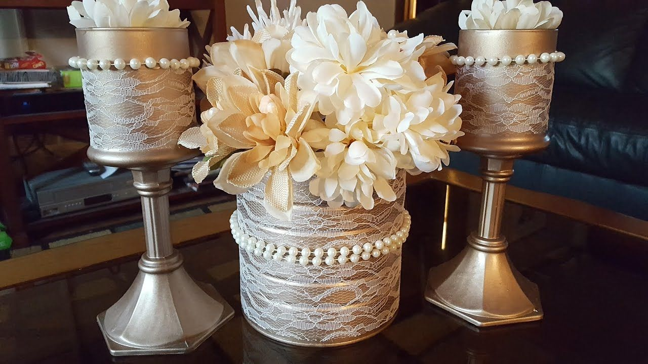 Upcycled Candle Holders Dollar Tree Diy Giftbasketappeal Videos