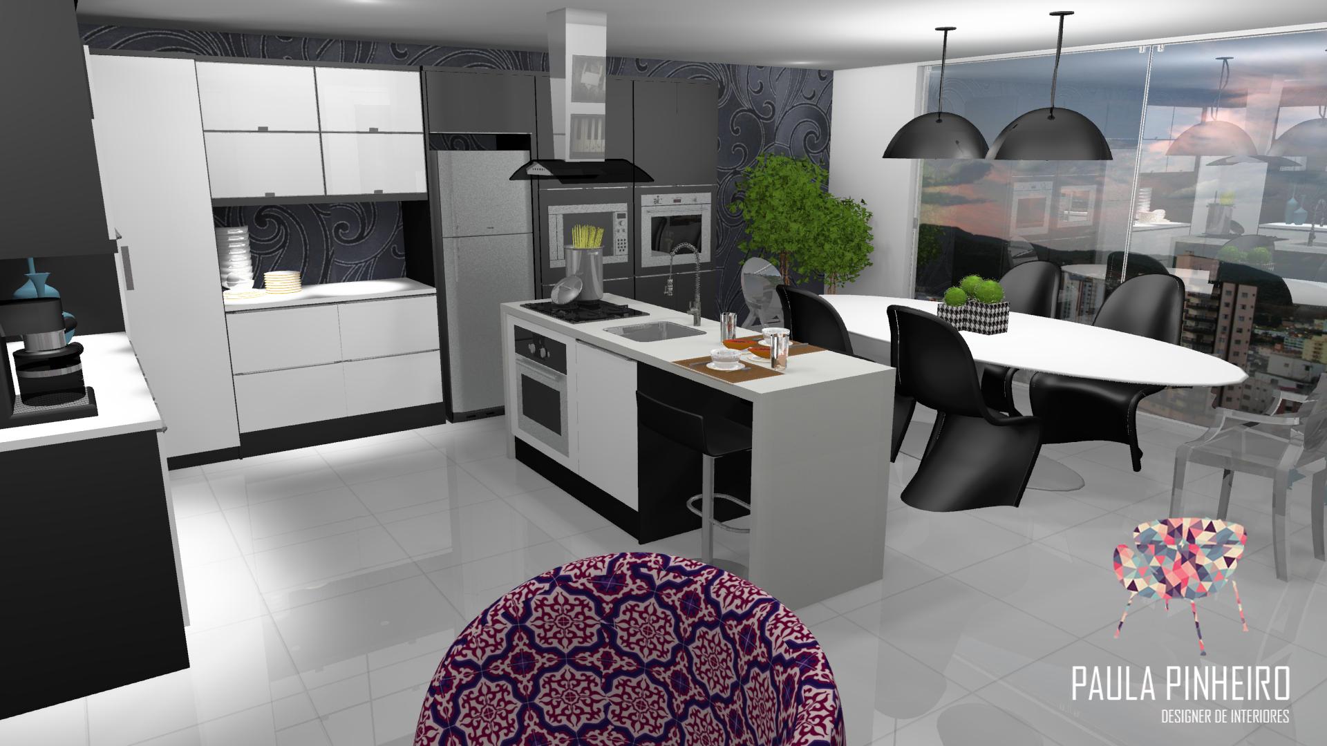 Cozinha Com Ilha Integrada Com Sala De Jantar Projeto Paula Pinheiro