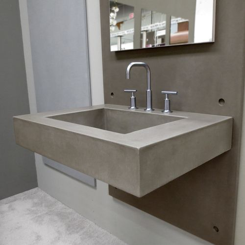 Trueform 30 Floating Concrete Bathroom Sink Is A Custom Modern With Contemporary Features For