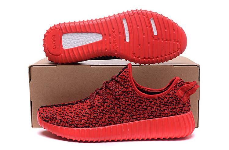 23d001f3786 Adidas Women Men Yeezy Boost 350 Shoes Solar Red