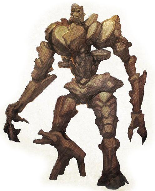 Wood Golem Fantasy Golems Monstruos Criatura