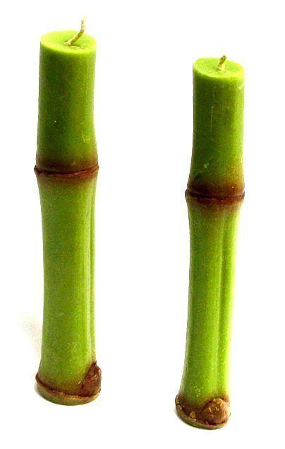 2 Bambuskerzen Kerzenset Bambusdesign Bambus Kerzen Grun