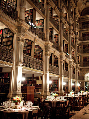 Library in wedding