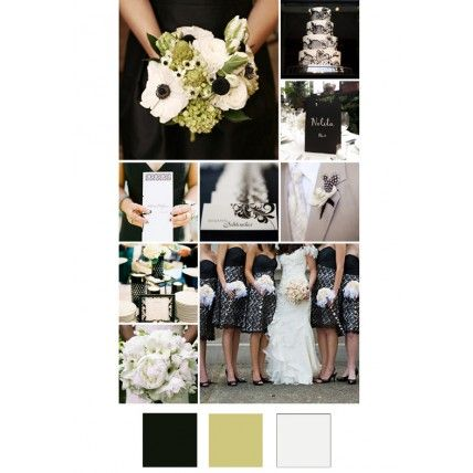 20 New Wedding Colour Combos Black Pale Green White The Knot