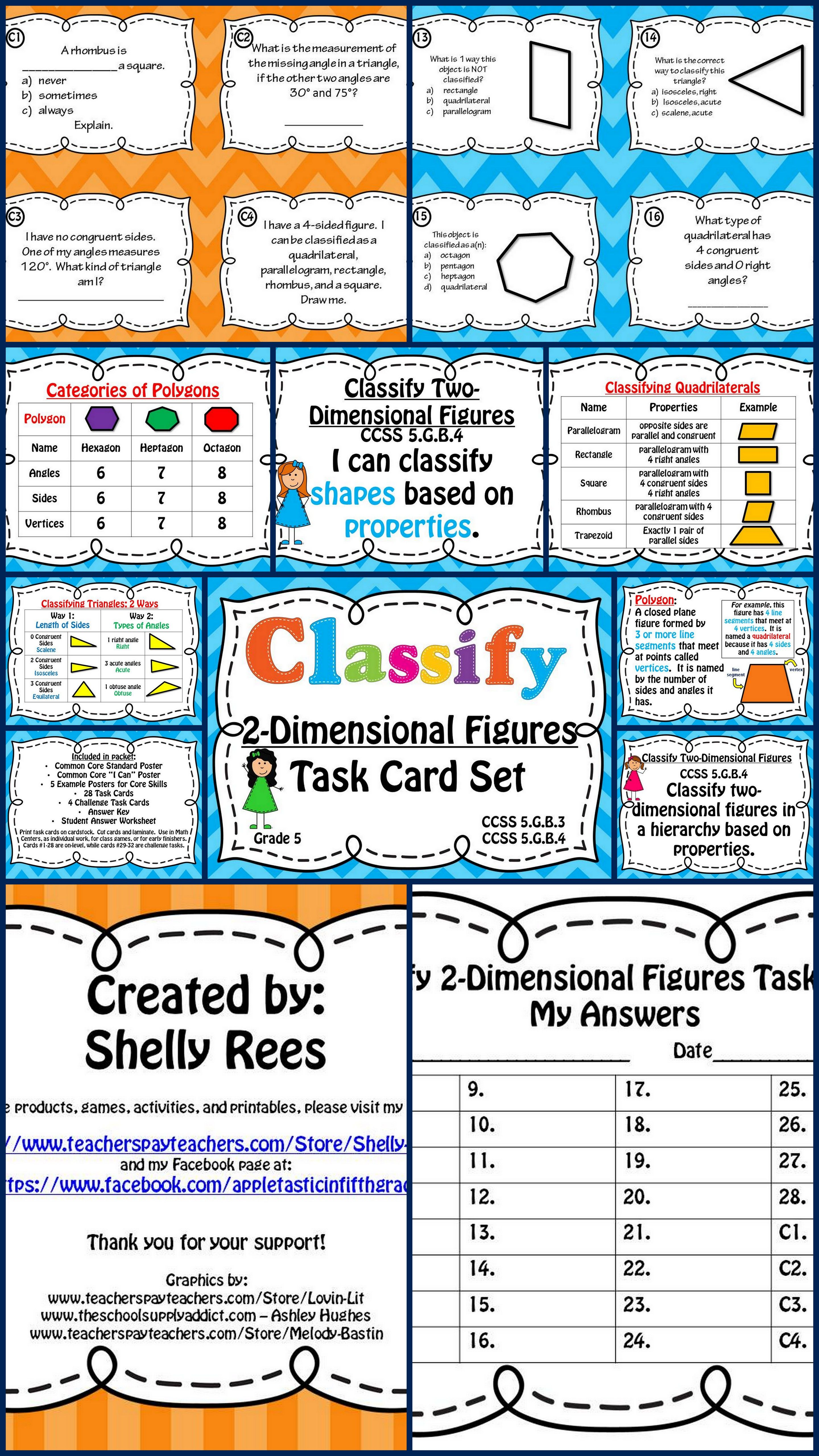 Great Set Of Math Task Cards And Posters For Student