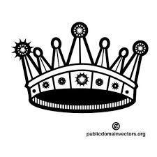 Hasil Gambar Untuk Topi Raja Vector Illustrations Kings Crown Vectors Public Domain