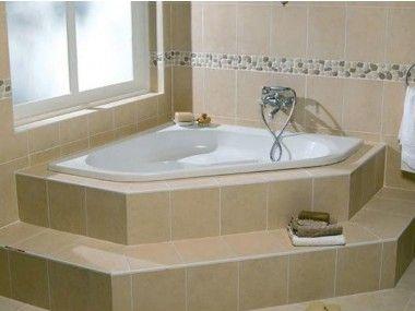 Piazza White Built-in Corner Bath - 1350X 1350mm   Bathroom ...